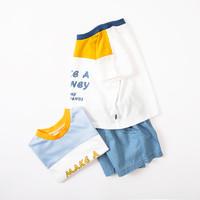 Oissie 奥伊西 儿童拼色T恤加短裤套装