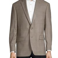 Classic Fit Silk Wool Windowpane Sport Jacket