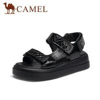 CAMEL 骆驼 A12296647 女士魔术贴厚底凉鞋
