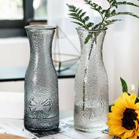 欧式创意简约玻璃花瓶  冰菊款(透明色) 大