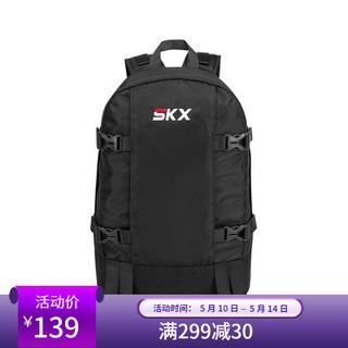 SKECHERS 斯凯奇 Skechers斯凯奇书包男女同款简约双肩包深黑色L120U021-002K