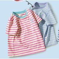 Mini Balabala 迷你巴拉巴拉 儿童条纹短袖T恤
