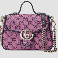GG Multicolor系列GG Marmont迷你手提包-古驰GUCCI中国官方网站