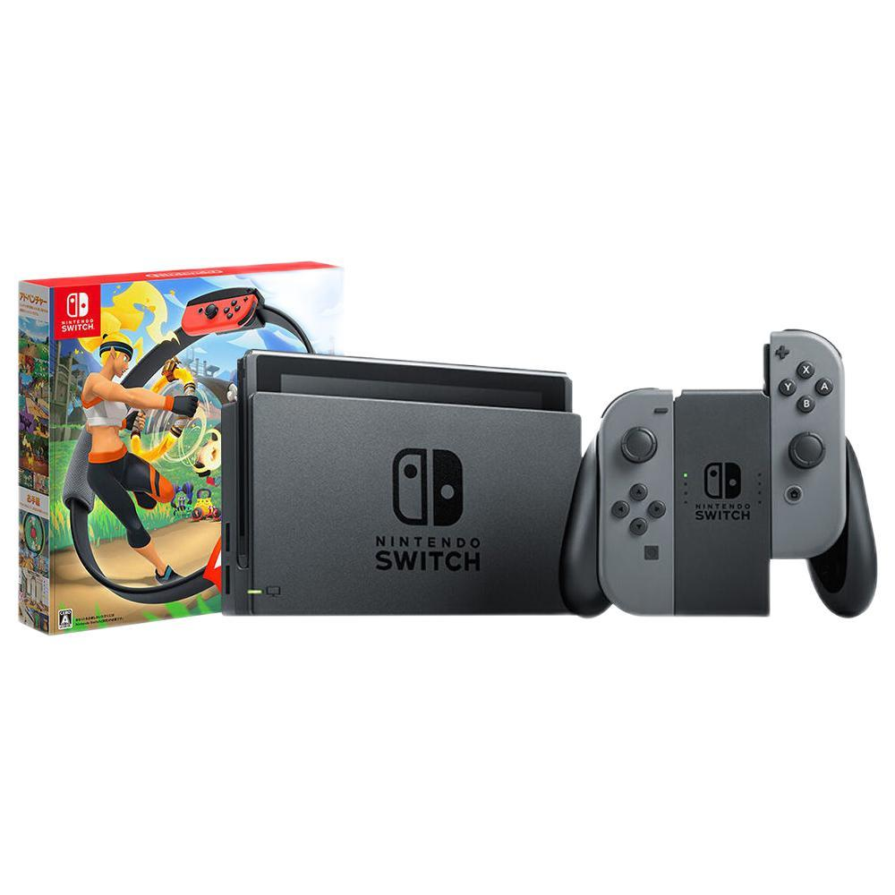 Nintendo 任天堂 Switch任天堂(灰色)+健身环套装 游戏机国行续航增强版