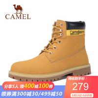 骆驼(CAMEL)男鞋 马丁靴男大黄靴踢不烂防滑秋耐磨沙漠高帮雪地鞋 黄色 38