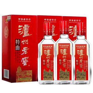 LUZHOULAOJIAO 泸州老窖 泸州老窖老字号特曲酒52度165ml*3瓶 浓香型高度白酒小酒礼盒装
