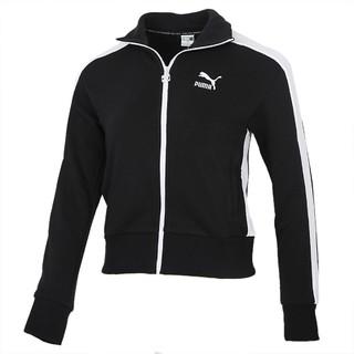 PUMA 彪马 女装夹克新款T7运动服休闲跑步舒适透气修身立领外套