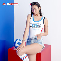 Kappa 卡帕 Kappa连体游泳衣女三角竞技专业运动训练2021年新款遮肚显瘦泳装