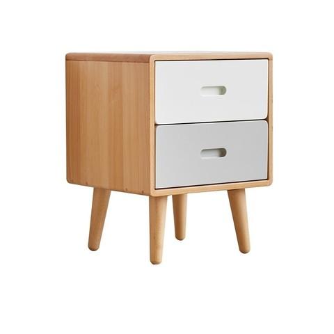 原始原素 全实木床头柜子现代简约北欧卧室床头小柜子储物柜G9021