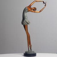 ARTMORN 墨斗鱼艺术 限量空间装饰品 桌面艺术品摆件 青铜雕塑 章华现代抽象人物 芳华