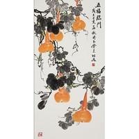 弘舍 新中式装饰画壁画葫芦 五福临门 《五福临门》雅致胡桃