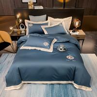 XANLENSSI 轩蓝仕 140支匹马棉刺绣镶边四件套 1.8m