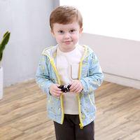 CICIIBEAR 齐齐熊 齐齐熊儿童外套男女宝宝纯棉外套2021婴儿衣服卡通竹节棉上衣洋气