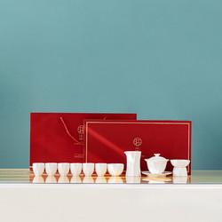 哲选白瓷盖碗茶具套装