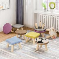 唐弓 小凳子家用实木圆矮凳