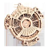 Zhiqixiong 稚气熊   3d木质机械齿轮传动万年历