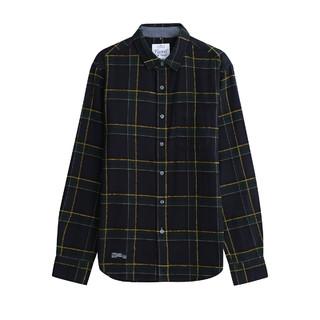 bossini 堡狮龙 堡狮龙21新款男装衬衫男士格子上衣法兰绒长袖衬衣