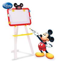 Disney 迪士尼 迪士尼双面大画板绘画套装儿童玩具男孩女孩黑白板磁性写字板绘画工具文具粉笔画架夹米奇生日六一儿童节礼物