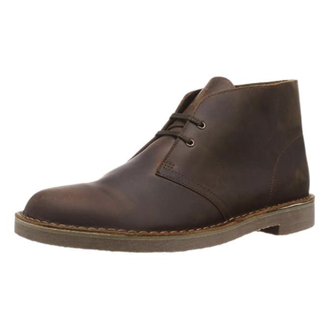 Clarks 其乐 男士皮革短靴 261535287 Dark Brown Lea 41