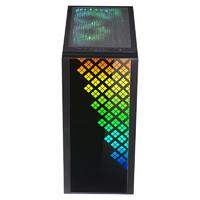 BitFenix 火鸟 黎明至尊 DAWN TG RGB EATX机箱 半侧透 黑色