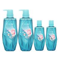 CLEAR 清扬 植觉头皮护理保湿超值 4件套 (洗发380ml+洗发380ml+洗发100ml+洗发100ml)