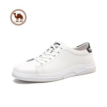 CAMEL 骆驼 牌 男鞋运动休闲板鞋清新百搭小白鞋质感牛皮滑板鞋 W112247820 白色 41