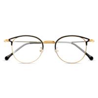 目匠 9029 黑金色合金眼镜框+1.61折射率 防蓝光镜片
