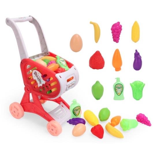 创微莱 儿童玩具手推车 18.6cm*28.4cm*40.3cm 送10件套