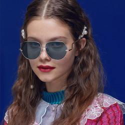 BE YOU beyou2021新款太阳镜网红潮人墨镜圆脸女士眼镜时尚驾驶镜情侣款