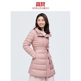 GOLDFARM 高梵 高梵羽绒服女2020年新款中长款连帽修身轻暖时尚收腰冬季保暖外套