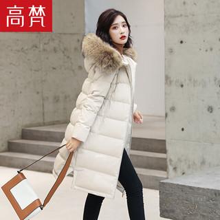 GOLDFARM 高梵 高梵2020新品羽绒服中长款时尚长款貉子毛领冬季外套女