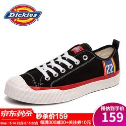 Dickies 帝客 Dickies休闲鞋男鞋低帮帆布鞋2021年春夏新款学生板鞋百搭透气潮鞋 黑色(男) 41