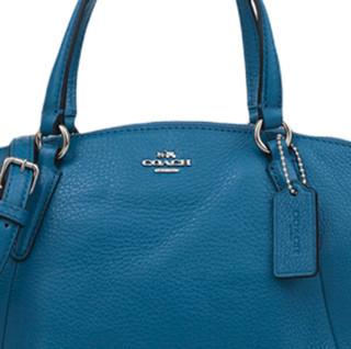 COACH 蔻驰 女士单肩手提饺子包 F57563 蓝色 小号