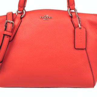 COACH 蔻驰 女士单肩手提饺子包 F57563 橘红色 小号