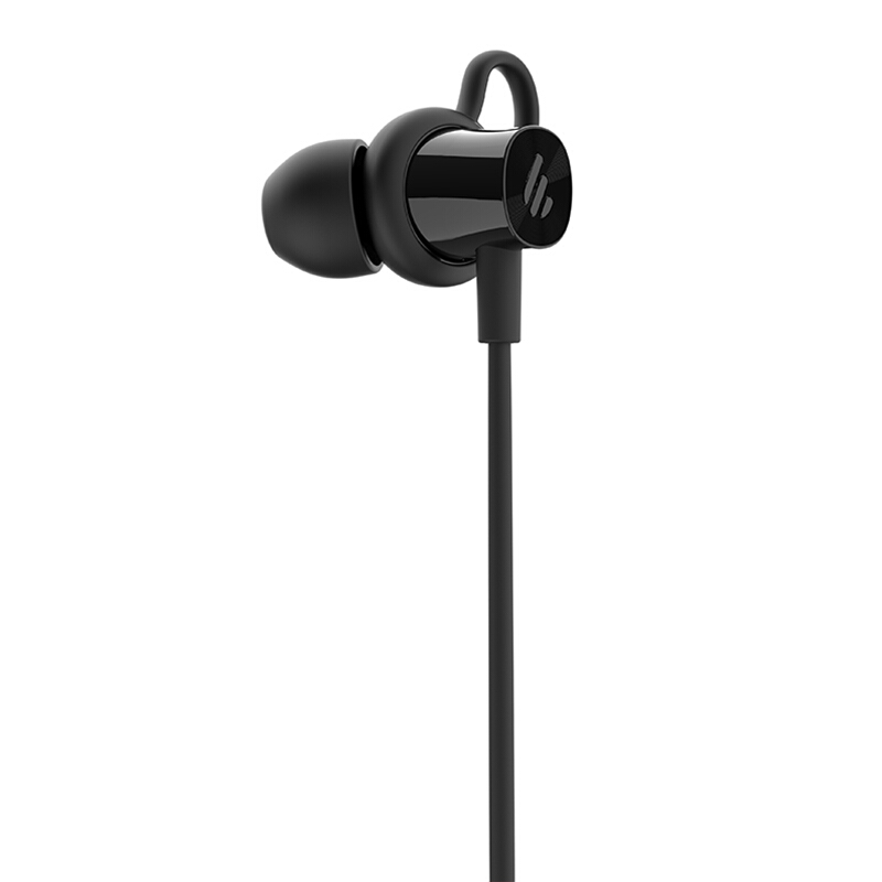 EDIFIER 漫步者 W200BT Plus 磁吸入耳式 无线运动蓝牙线控耳机 手机耳机 音乐耳机 带麦可通话 黑色