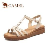 CAMEL/骆驼 A125046301 女款波西米亚坡跟凉鞋