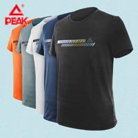 PEAK 匹克 匹克短袖2021夏季新款T恤吸汗速干白色跑步休闲圆领运动短袖男