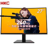 HKC 惠科 SG27C Plus 27英寸VA显示器(1080P、1800R、240Hz、1ms)