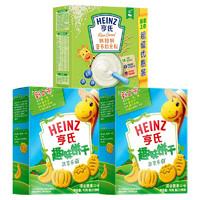 Heinz 亨氏  宝宝零食趣味饼干组合 无糖米粉 400g*1盒+蔬菜乐园饼干*2盒