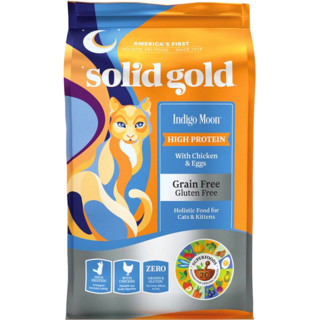 solid gold 素力高 Indigo moon系列 鸡肉蛋粉全阶段猫粮 12磅