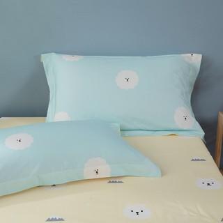 MERCURY 水星家纺 水星家纺100%全棉枕套单双人学生宿舍枕芯套48x74cm枕头套一对装