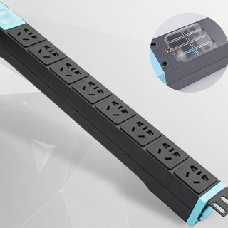 lengon 良工 工业大功率排插 蓝黑-按键开关款无线