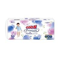 16日10点、黑卡会员:GOO.N 大王 天使自然之恩系列 婴儿拉拉裤 XL34片
