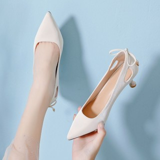 RED DRAGONFLY 红蜻蜓 红蜻蜓2021女鞋高跟鞋通勤鞋女舒适浅口女单鞋