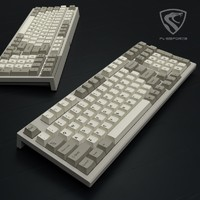 FL·ESPORTS 腹灵 FL980 CPS 有线机械键盘 BOX红轴 98键 复古经典灰白配色