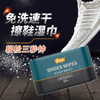 爱恩倍 擦鞋神器湿巾小白鞋皮鞋清洁12抽*5包