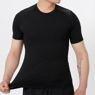 adidas 阿迪达斯 潮流男子速干时尚舒适圆领透气薄款运动短袖T恤