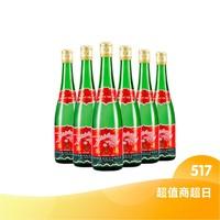西凤酒 西凤 55度绿瓶高脖凤香型白酒 500ml*6瓶装