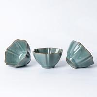 xigu 熹谷 龙泉青瓷 哥窑开片陶瓷茶杯 六方杯