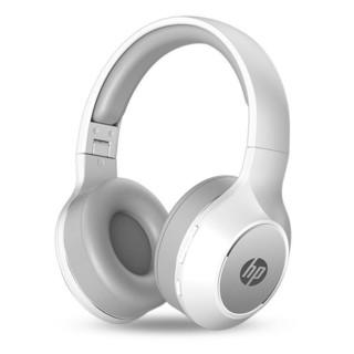 HP 惠普 惠普(HP)商用BT200无线蓝牙头戴式耳机 手机电脑通用型充电电耳  蓝牙5.0降噪办公/游戏耳机 白色